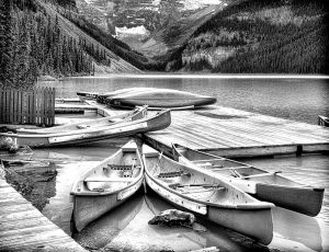 Canoes      Lake Louise   Alberta, Canada